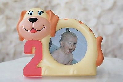 "Cute Puppy Number 2 Two Year Old Children Picture Photo Frame 3.75"" x 4.75""- Le Petit Pain"