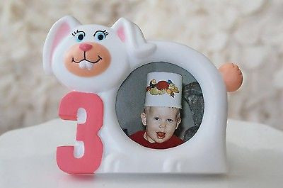 White Bunny Rabbit Picture Frame 3 Year Old Birthday Cute Picture Photo Frame- Le Petit Pain