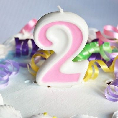 Pink 2 Number Candle White Premium Birthday Candle