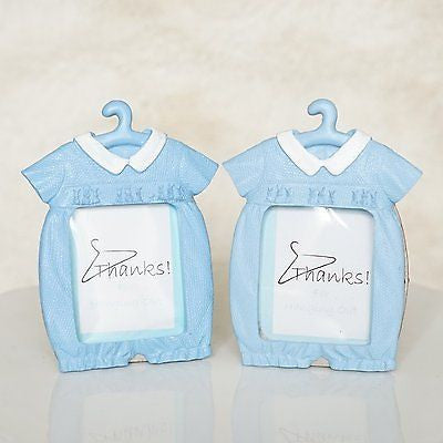 2 Blue Baby Shower Thanks For Hanging with Us Picture Frames Cute Baby Favors - le petit pain