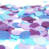 Blue Purple Turquoise Teal Aqua Paper Circle Confetti Party Decoration Frozen- Le Petit Pain