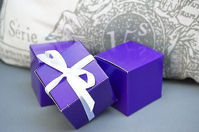 10 Dark Purple Square Favor Boxes, Favor box, Jewelry Gift Box, Party Decoration - le petit pain