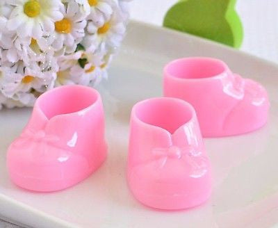 8 Pink Baby Booties Booty Mini Baby Shower Gifts Gender Reveal Favors Decor - le petit pain