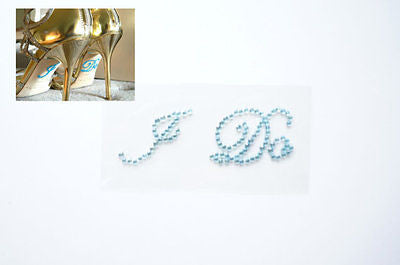 I Do Light Blue Shoe Stickers Wedding Bride Shoe Sticker