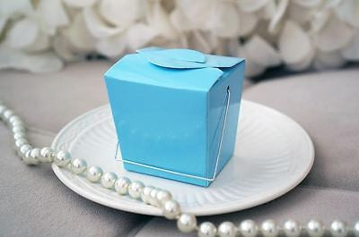 12 Light Blue Chinese Mini Take Out Boxes Wedding Birthday Baby Party Favor - le petit pain