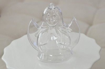Clear Plastic Angel Shaped Container Favor Box DIY Ornament