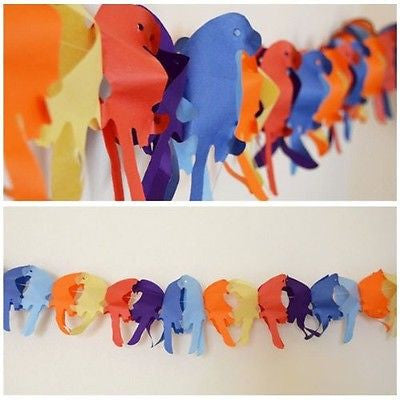 Tropical Parrot Paper Garland 13 Ft Long Hanging Decoration