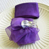 Purple Rose Bow and Ribbon Easy Clip On Present Gift Bow Christmas Gift Wrap- Le Petit Pain