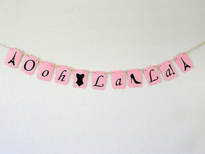 Ooh La La Pink Bridal Shower Bachelorette Banner, Paris Themed French Photo Prop- Le Petit Pain