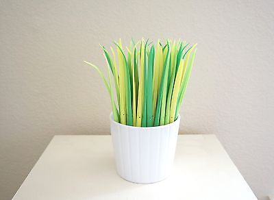 Modern Rubber Green Grass Pens Lemongrass Pens Grass Leaf Planter Home Decor- Le Petit Pain
