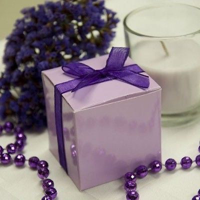 "10 Lavender Purple Square Favor Boxes 2"" Gift Box"