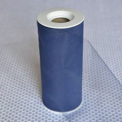 Navy Blue Premium Tulle on Spool 25 Yards Craft Project Wedding Table Decoration- Le Petit Pain