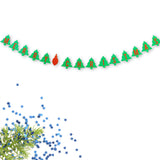 Merry Christmas Banner Christmas Tree and Ornament Red and Green Holiday Decoration- Le Petit Pain