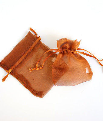 "50 Bronze Copper Organza Favor Bags Pouches 3""x4"" - le petit pain"