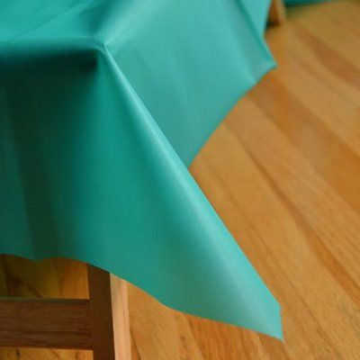 "Teal Green Reusable Table Cover 54"" x 108"" Heavy Duty- Le Petit Pain"