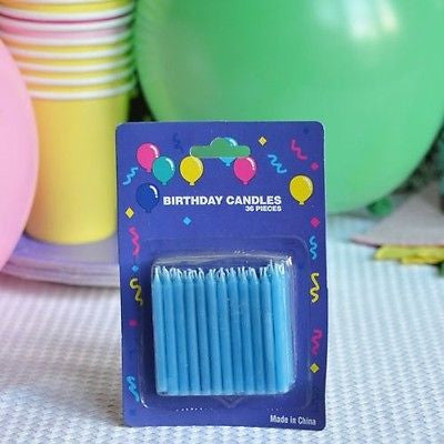 "2"" Blue Birthday Candles (72 Count) - le petit pain"