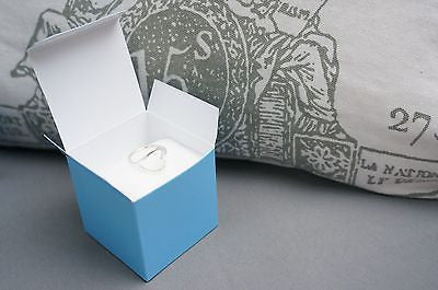 10 Baby Light Blue Square Favor Box Boxes Jewelry Gift Box Turquoise