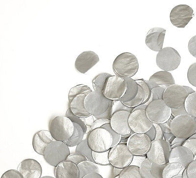 Metallic Silver Tissue Paper Circle Confetti Party Decoration Grey Wedding Favor