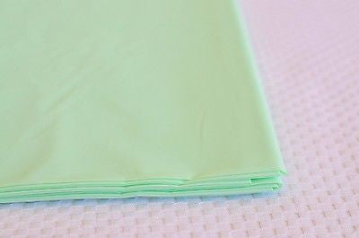 "Premium Plastic Seafoam Mint Green Table Skirt 29"" x 14"" Reusable- Le Petit Pain"