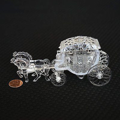 Royal Vintage Cinderella Horse and Carriage Coach Cake Topper Clear- Le Petit Pain