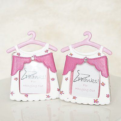 2 Pink Baby Shower Thanks For Hanging with Us Picture Frames Girl Dress Favors - le petit pain