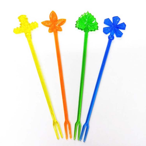 Leaf Flower Cocktail Fork Autumn Appetizer Picks 16 Pack