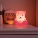 Vintage Light Up Pink Teddy Bear Girls Room Lamp