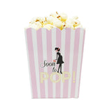 Soon To Pop Pink Baby Shower Popcorn Favor Box-Set of 20- Le Petit Pain