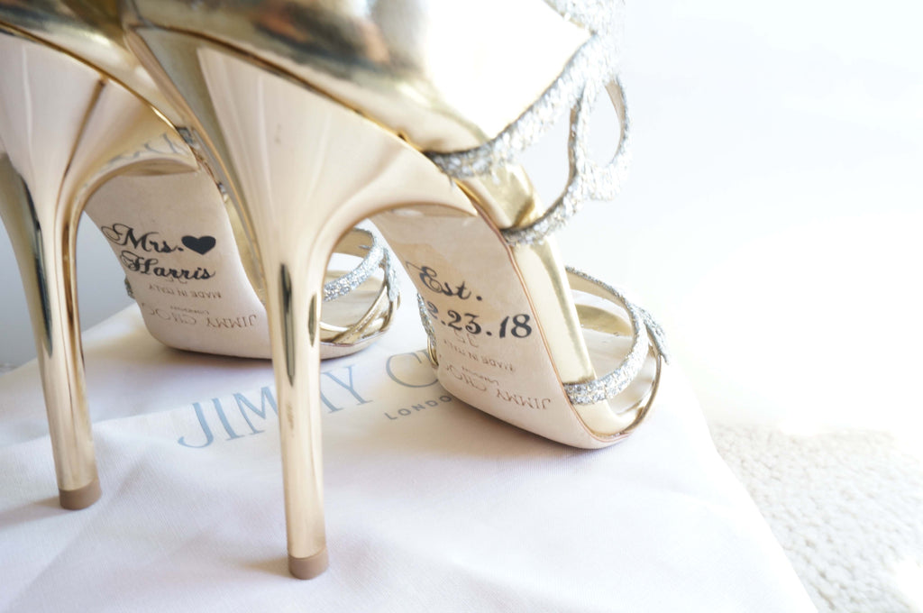 Personalized Wedding Shoe Decal