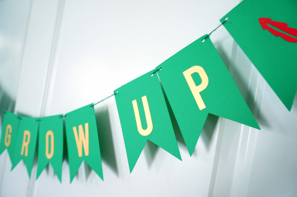 Never Grow Up Birthday Banner Peter Pan Party Decoration Baby