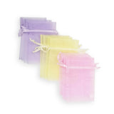12 Unicorn Pastel Rainbow Gift Favor Bags Purple Blue Drawstring Pouches