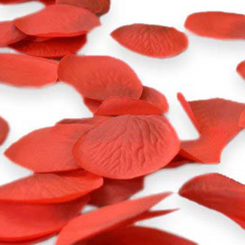 300 count Red Synthetic Rose Petals Fabric Rose Petals, Wedding Party Decoration