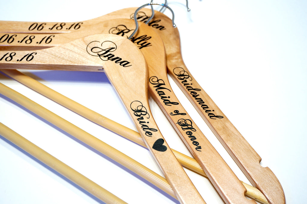 Custom personalized wedding hangers calligraphy wedding for Wedding dress hanger amazon