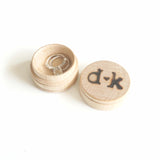 Custom Personalized Engagement Ring Initials Names Wedding Ring Wooden Engraved Jewelry Box- Le Petit Pain