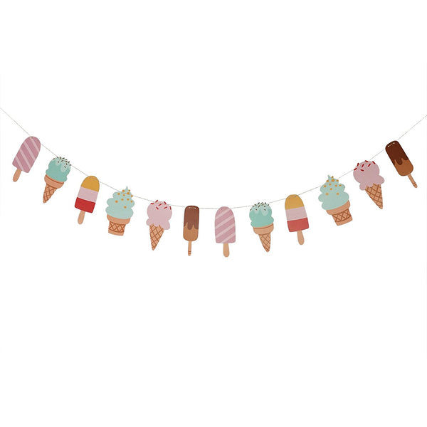 Ice Cream & Popsicle Paper Party Garland Streamer Decoration 10 Feet Garland- Le Petit Pain