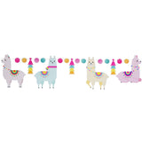Pastel Llama Party Decoration Banner Paper Garland 12 Feet
