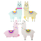 2 Pastel Llama Party Decoration Banners Paper Garlands 12 Feet Set of 2