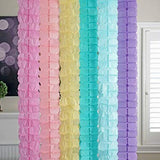 Unicorn Pastel 3D Four Leaf Tissue Flower Hanging Streamers Party Decor Backdrop