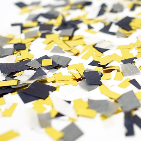 Black Gray White Gold Foil Shredded Confetti Paper Party Decoration- Le Petit Pain