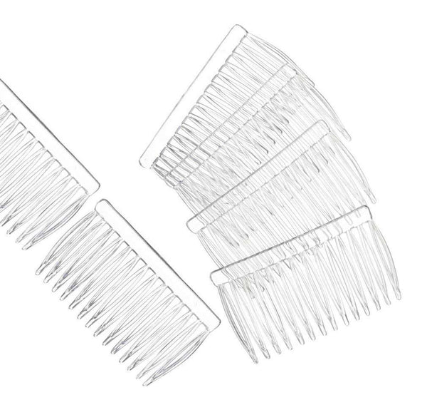 12 Clear Plastic Hair Combs Simple and Ready to Decorate Hair Accessories DIY Crafts