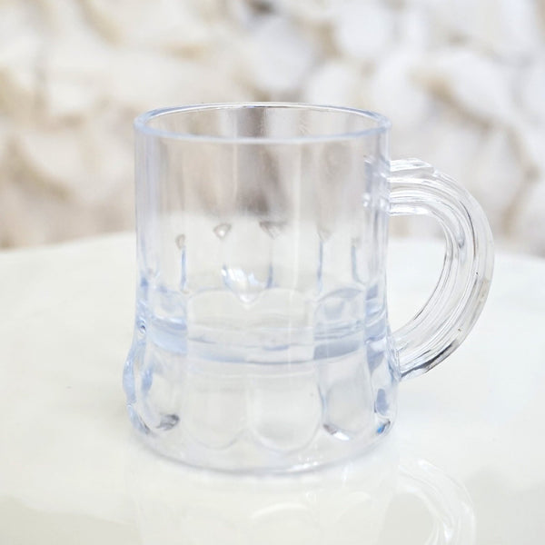 8 Mini Beer Mugs Shot Glass Plastic Wedding Favor Beerfest Oktoberfest - le petit pain