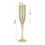 "12 Small Gold Champagne Flutes Glass 6"" Plastic Cups"