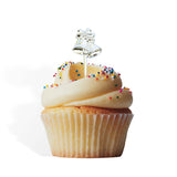 12 Silver Bells Cupcake Cake Picks
