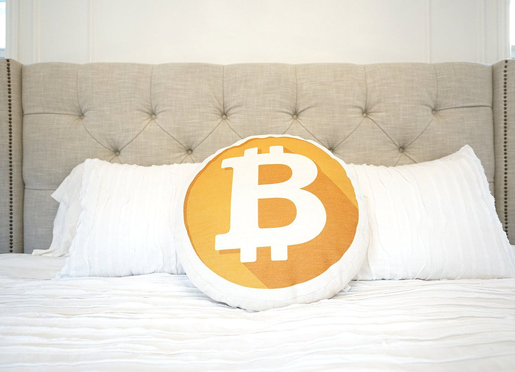Bitcoin Decorative Throw Pillow Mining Your Own Business Soft Round New Round Decorative Bed Pillows