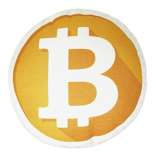 Bitcoin Decorative Throw Pillow Mining Your Own Business Soft Round Bed Pillow- Le Petit Pain