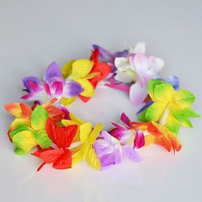 Rainbow Multi Color Orchid Lei Flower Head Crown Band Luau or Wedding- Le Petit Pain