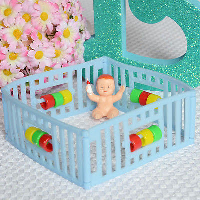 Vintage Playpen Baby with Bottle Birthday Cake Topper Baby Shower Decoration - Le Petit Pain