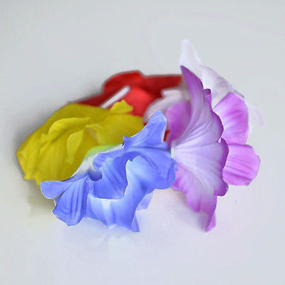 Hibiscus Hawaiian Luau Wrist Bracelet or Anklet Multi Color Purple Yellow Blue- Le Petit Pain