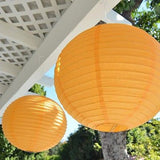 "2 Round Asian Style Chinese Round Lanterns 16"" Hanging Multi Color XL - le petit pain"