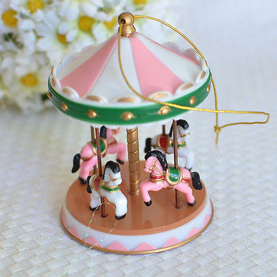 Pink Circus Carousel Cake Topper for Baby Showers, Birthdays Vintage Carnival- Le Petit Pain
